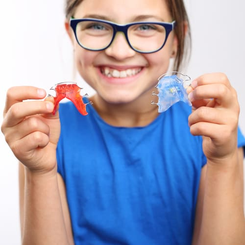 Herausnehmbare Zahnspange